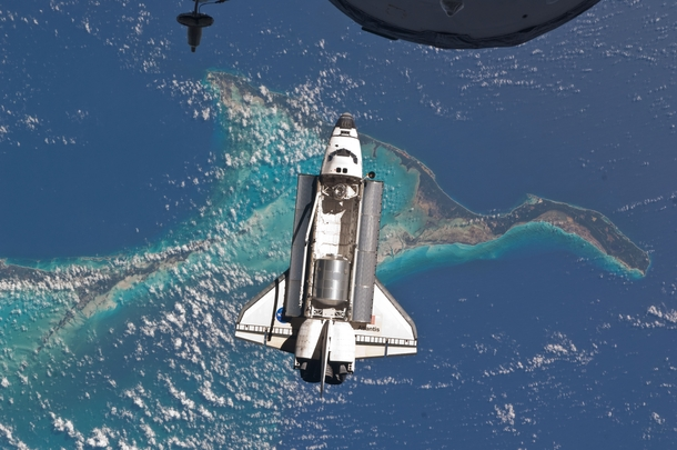 Space Shuttle as seen from the International Space Station