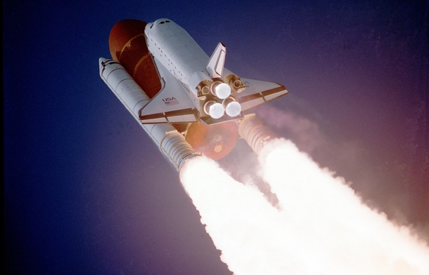 Space Shuttle Atlantis takes flight on its STS- mission on December    am EST utilizing  pounds thrust produced by its three main engines The STS- was the third classified mission dedicated to the Department of Defense