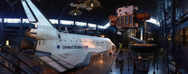 Space Shuttle Discovery at Air and Space Museum what a peaceful resting place