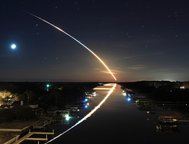 Space Shuttle Endeavour STS- launches into orbit - by James Vernacotola