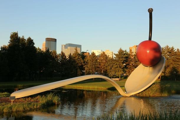 Spoonbridge and cherry minneapolis sculpture garden at the - Walker art center sculpture garden ...