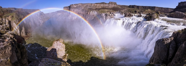 Spring runoff in the Snake River at Shoshone Falls Idaho