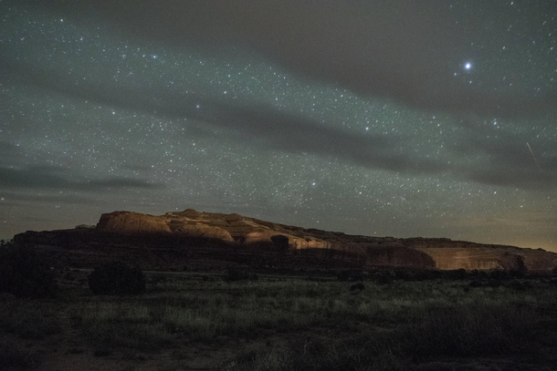 Starry night outside Canyonlands Utah