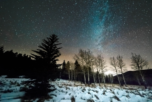 Stary New Years Eve near Echo Lake Colorado