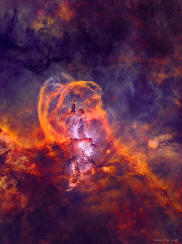 Statue Of Liberty Nebula Star Forming Region Fields Of Glowing Hydrogen Gas - Stars Not Included Great Colors Though