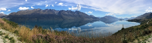 Stopped on the side of the rode on the way to Glenorchy New Zealand