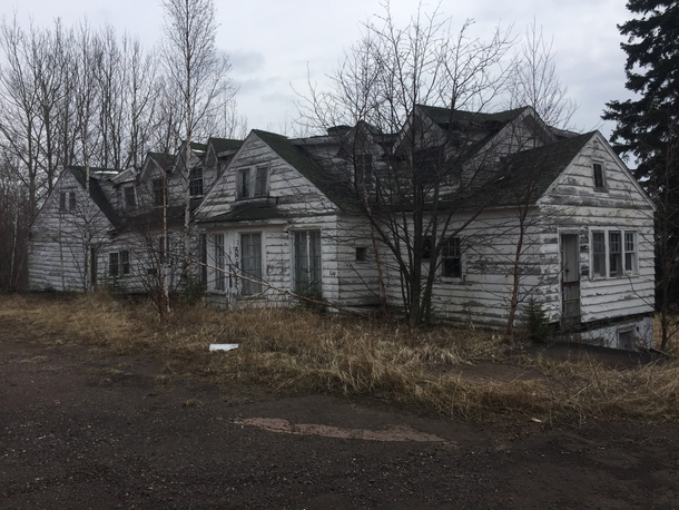 Straight out of a horror movie Abandoned motel on HWY  in Northern Minnesota