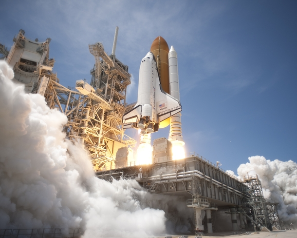 STS  Space Shuttle Atlantis launches from KSC