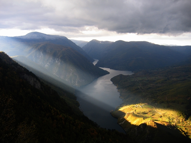 Sunrays over Drina River Tara Mountains in Serbia  Uros Petrovic