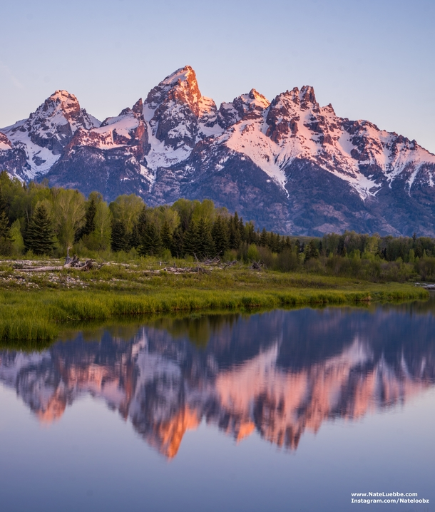 Sunrise at Schwabacher Landing Grand Teton National Park Wyoming
