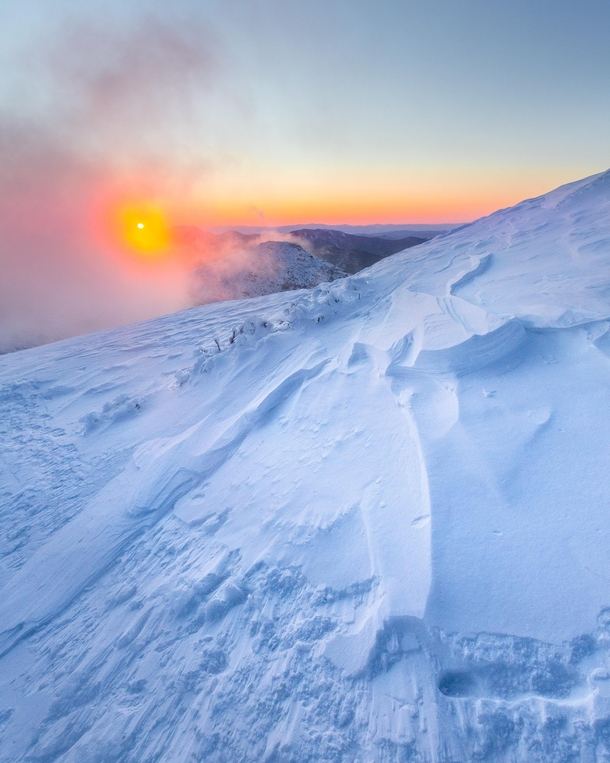 Sunrise on a very very cold morning in the Adirondacks Mt Marcy New York State  Social mikemarkov