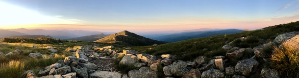 Sunrise on Franconia Ridge NH OC x