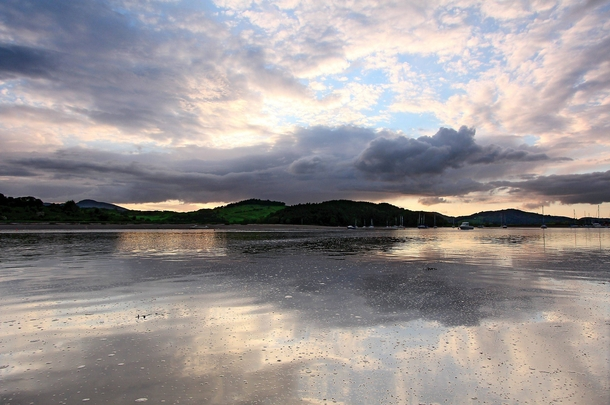 Sunset in Dumfries and Galloway Scotland