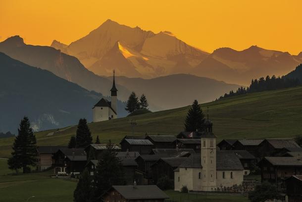 Reckingen Gluringen Switzerland  city photos : Sunset in Reckingen Gluringen Switzerland Photorator