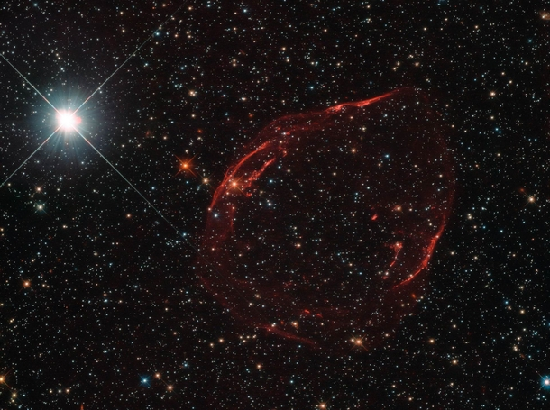 Supernova Remnant by Hubble
