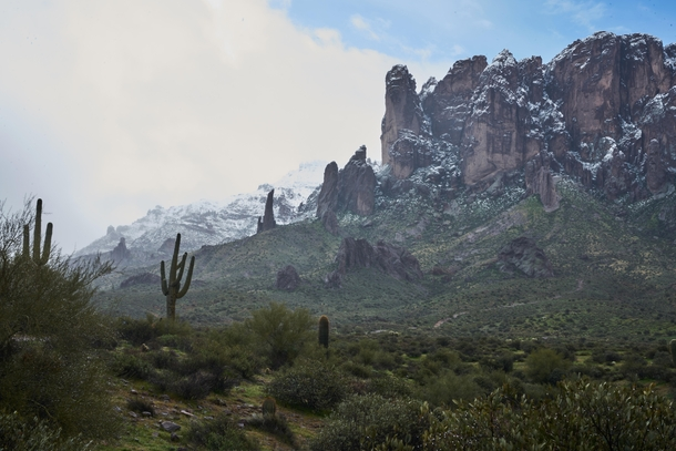Superstition Mountains Just East of Phoenix Arizona