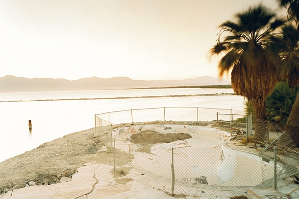 Swimming pool near the Salton Sea California