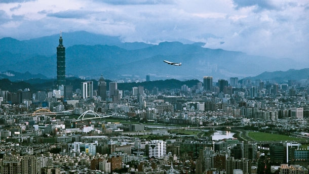 Taiwan - Taipei and an aircraft