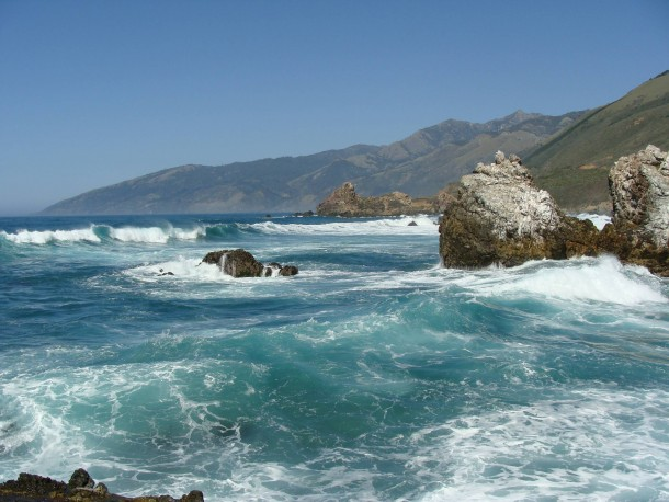 Teal Waves of Big Sur California