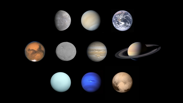 Ten planets wallpaper