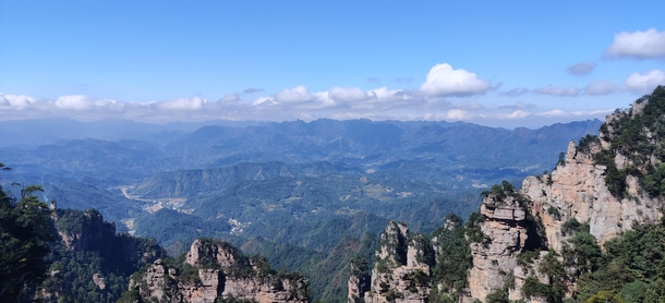 The amazing view from the top of the mountains in Wulingyuan China