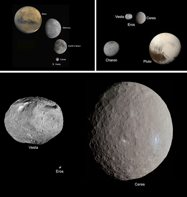 The asteroid belt is always portrayed as being a place where giant rocks are crashing into one another but in reality theyre very far apart from each other If you were standing on one you probably wouldnt see another in the sky The  largest are Ceres and