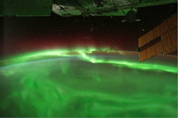 The Aurora Borealis as seen from space Taken from the ISS