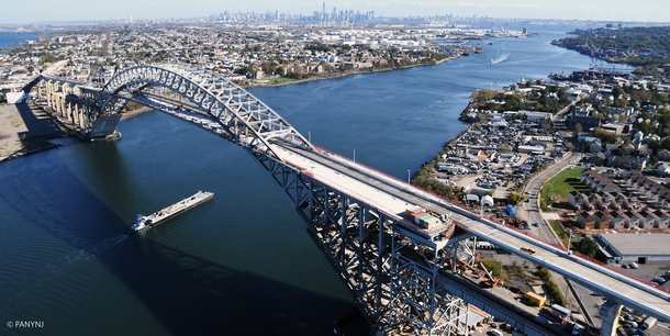 The Bayonne Bridge between New Jersey and Staten Island