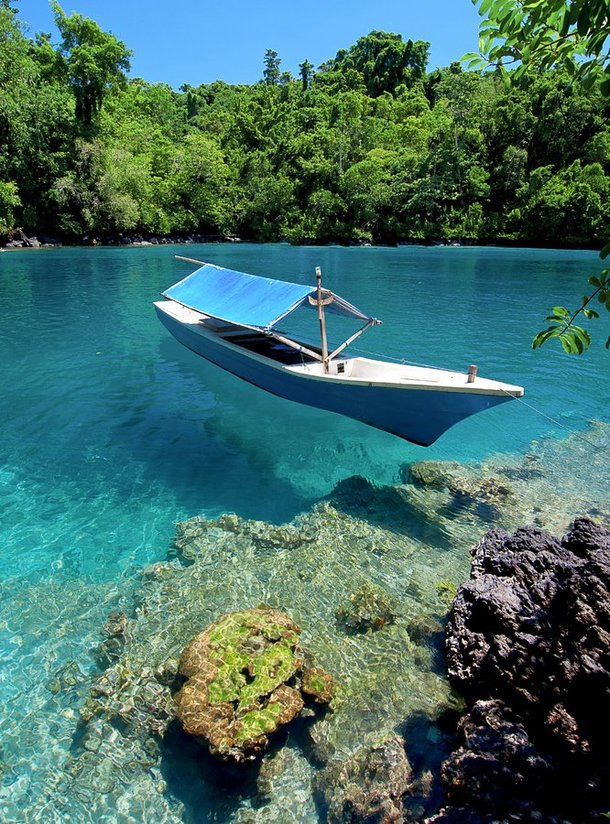 The beautiful clear waters of Ternate Island Indonesia
