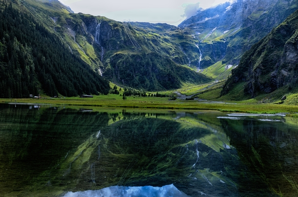 The best way to explore Austria is to just pick a valley and find the waterfall at the end Hintersee Austria