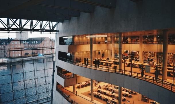 The Black Diamond - a modern extension of the Royal Danish Library in Copenhagen Designed by the Schmidt Hammer Lassen firm