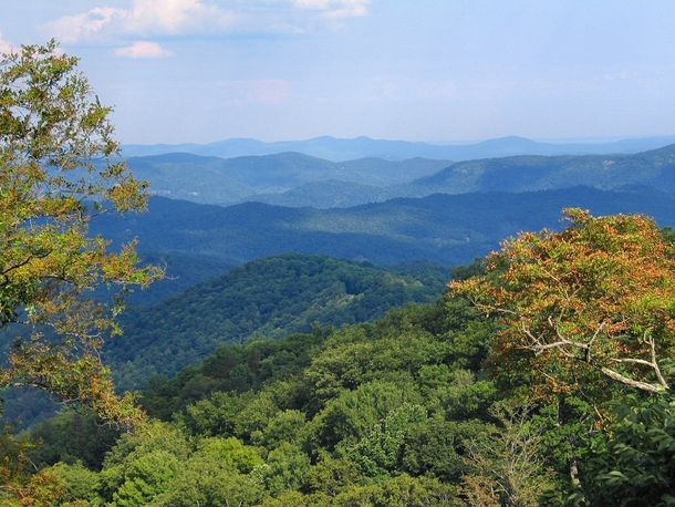 The Blue Ridge Mountains Western North Carolina
