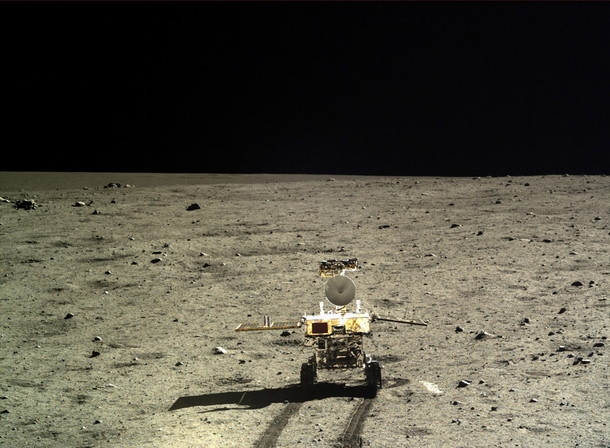 The chinese lunar rover Yutu starting its mission