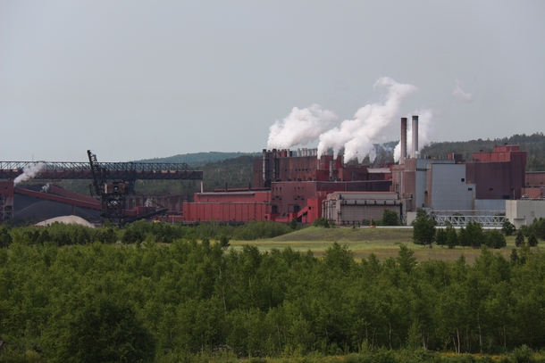 The Cliffs mining taconite iron ore plant on the shore of Lake Superior in Silver Bay MN