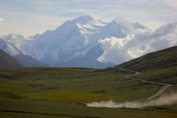 The clouds parted and I became part of the lucky  percent Roughly only  of Denali National Parks visitors see Mount Denali Denali Alaska