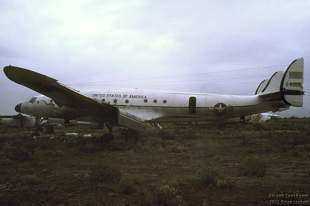 The Columbine II a Lockheed C-a Constellation that served as Presidents Eisenhowers Air Force One abandoned in the Arizona desert