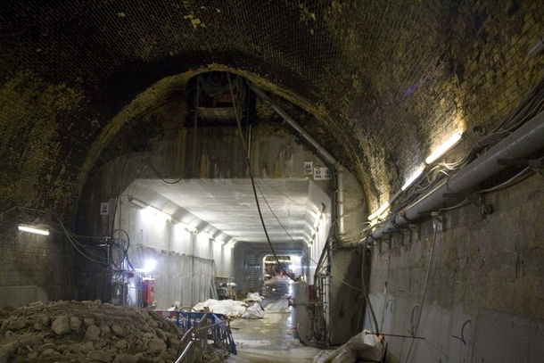 The Connaught Tunnel under Londons Docks