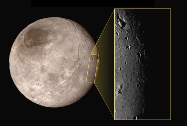The cratered surface of Charon