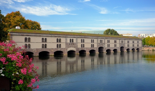 The downstream side of the Barrage Vauban
