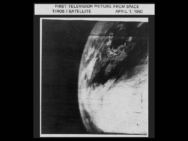The first television photo of Earth taken from space by the TRIOS- weather satellite on April