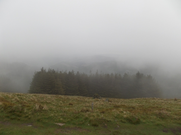 The fog gave this place a really mysterious quality while hiking Ireland