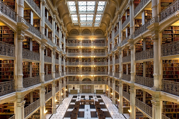 The George Peabody Library Johns Hopkins University Baltimore Maryland Designed by Edmund G Lind