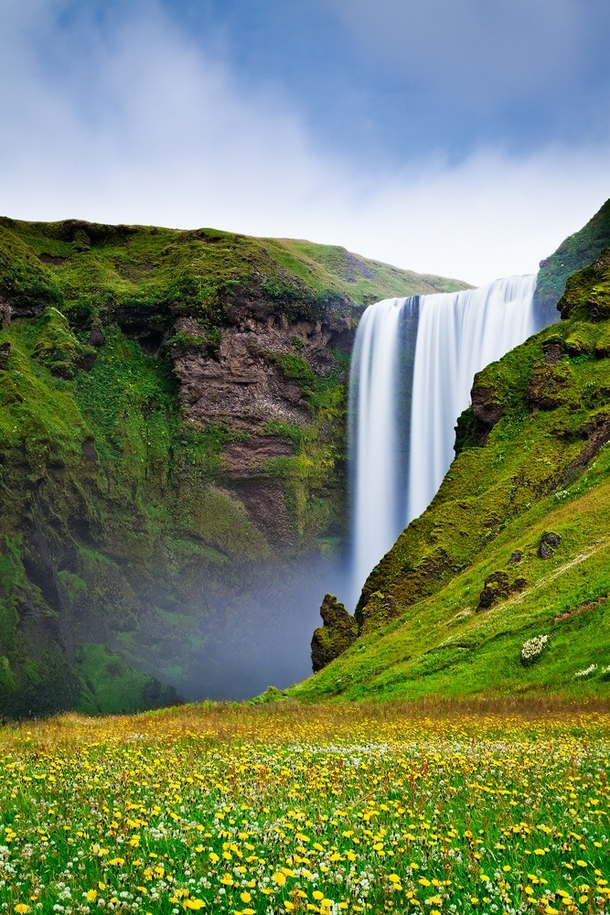 The Iconic Skogafoss waterfall in Iceland Photo by Jon Reid