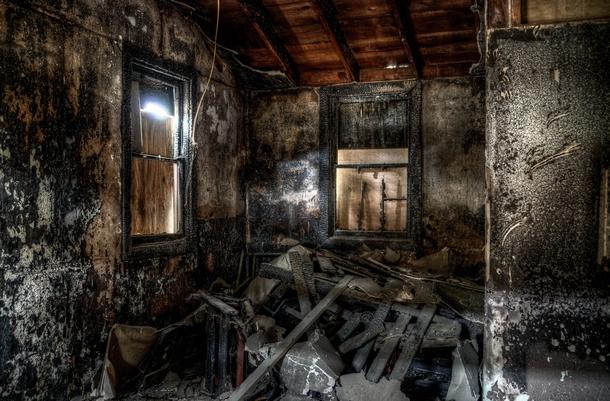 The Inside Of A Burned House Photorator