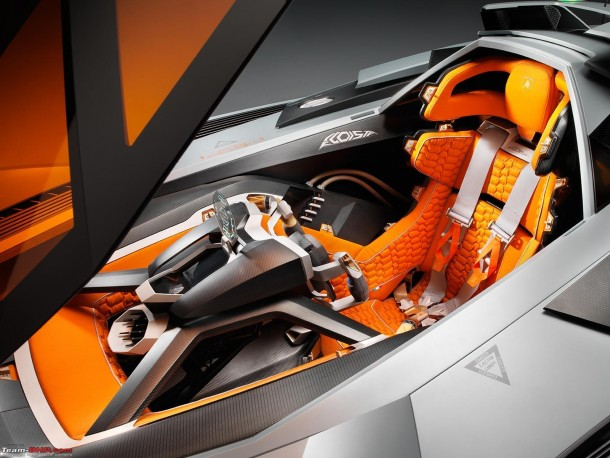The Interior of the Lamborghini Egoista