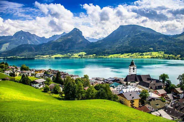 The lakeside village of St Wolfgang Austria