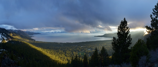 The light over Lake Tahoe last week  make sure to zoom in
