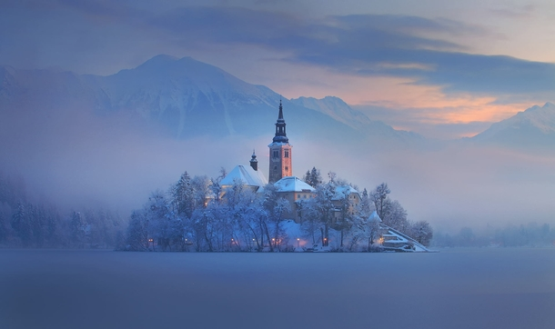 The Magic of Bled Island in the Alps  photo by Dan Briski