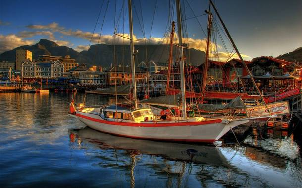 The magnificent waterfront of Cape Town South Africa
