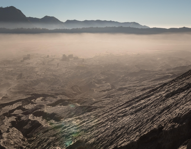 The mars-like landscape of Mount Bromo
